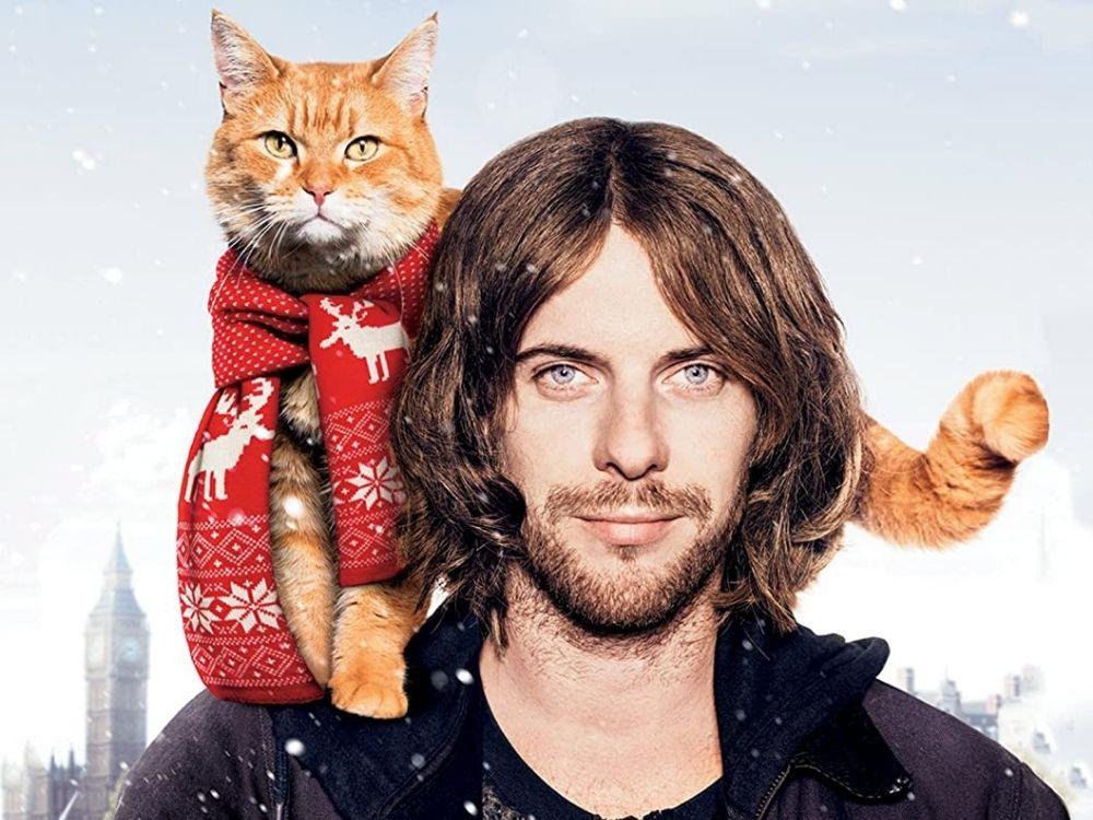 Kot Bob i ja - uliczny grajek i jego zwierzak