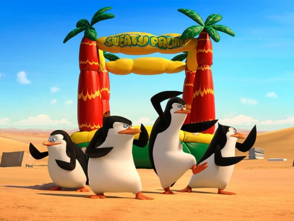 Pingwiny z Madagaskaru - w złączonych siłach